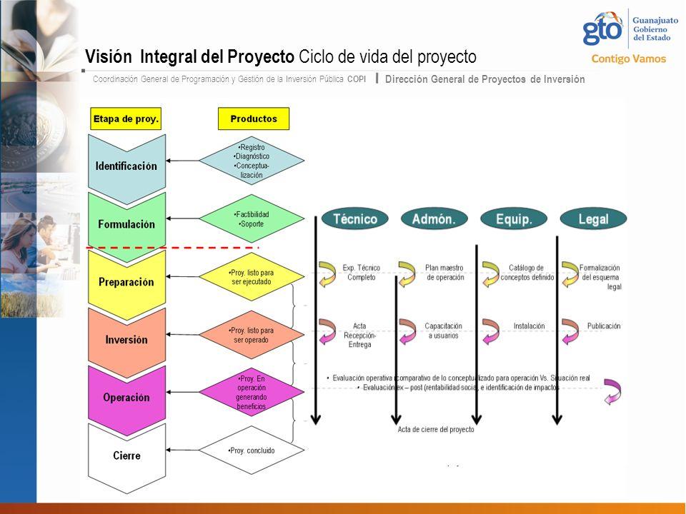 Visión Integral del Proyecto Ciclo de vida del proyecto
