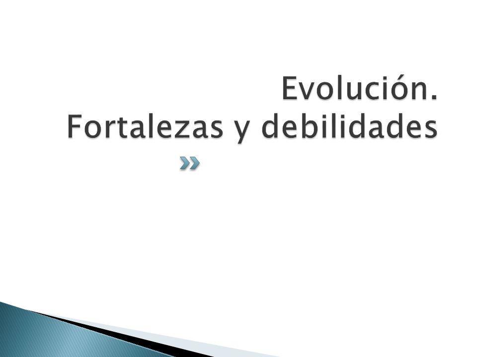 Evolución. Fortalezas y debilidades