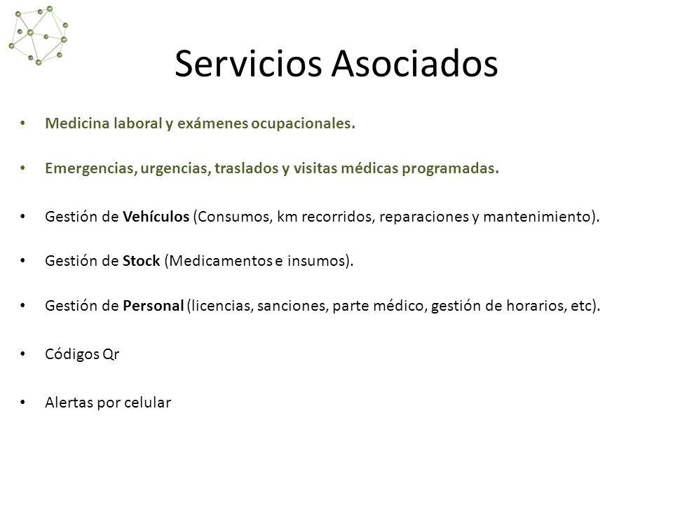 Servicios Asociados Medicina laboral y exámenes ocupacionales.