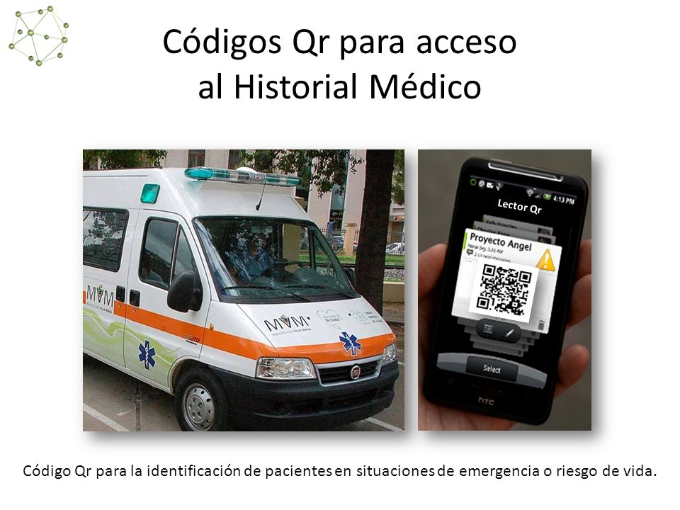 Códigos Qr para acceso al Historial Médico