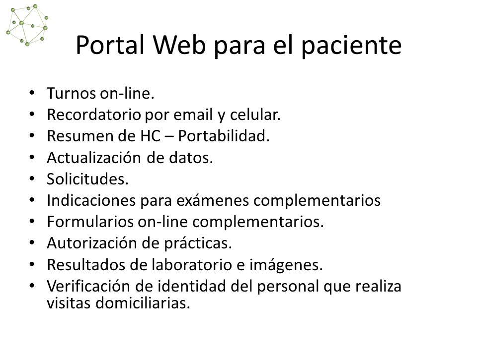 Portal Web para el paciente