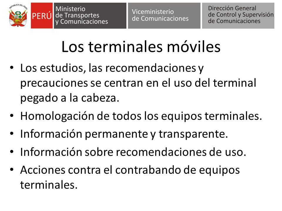 Los terminales móviles