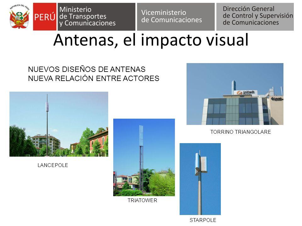 Antenas, el impacto visual