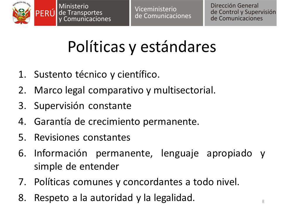 Políticas y estándares