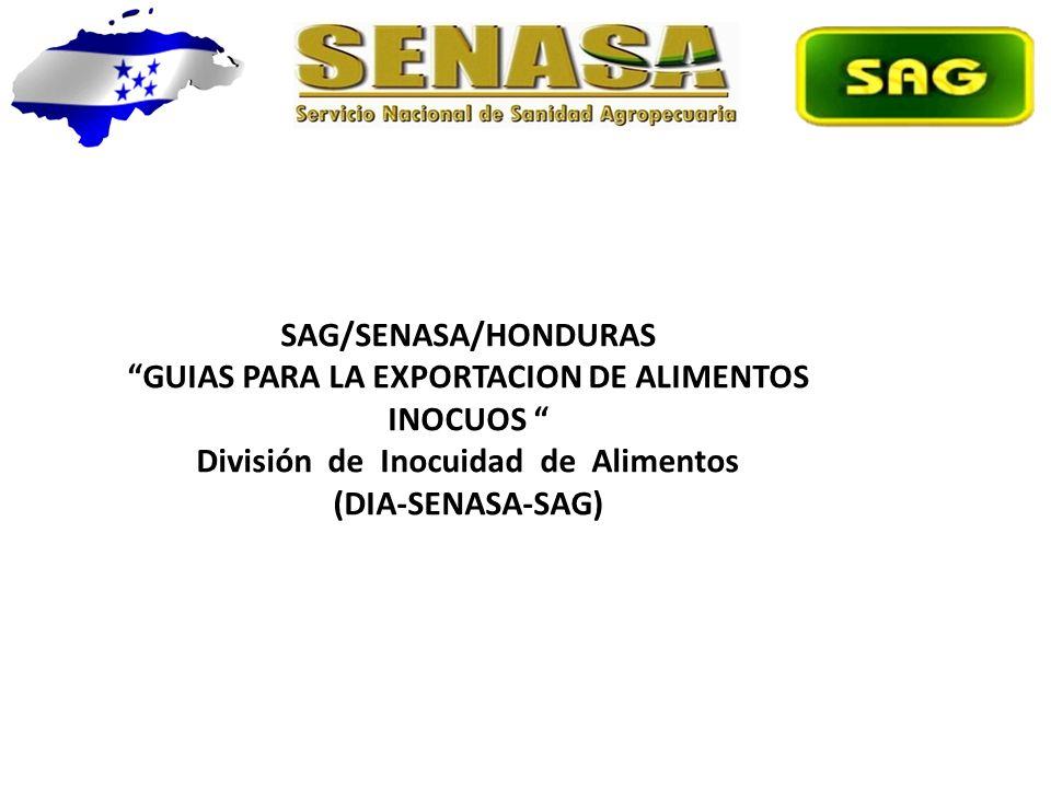 GUIAS PARA LA EXPORTACION DE ALIMENTOS INOCUOS