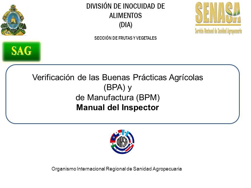Verificación de las Buenas Prácticas Agrícolas (BPA) y