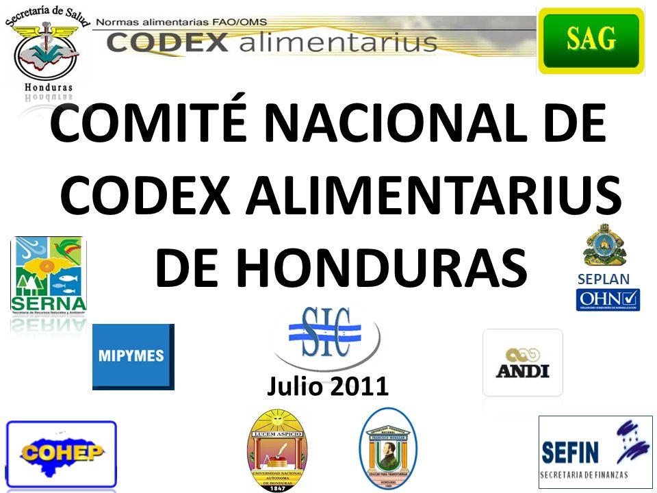 COMITÉ NACIONAL DE CODEX ALIMENTARIUS DE HONDURAS