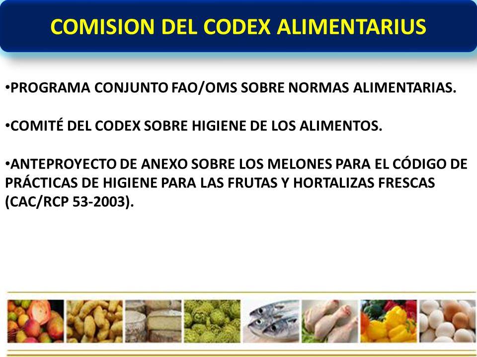 COMISION DEL CODEX ALIMENTARIUS