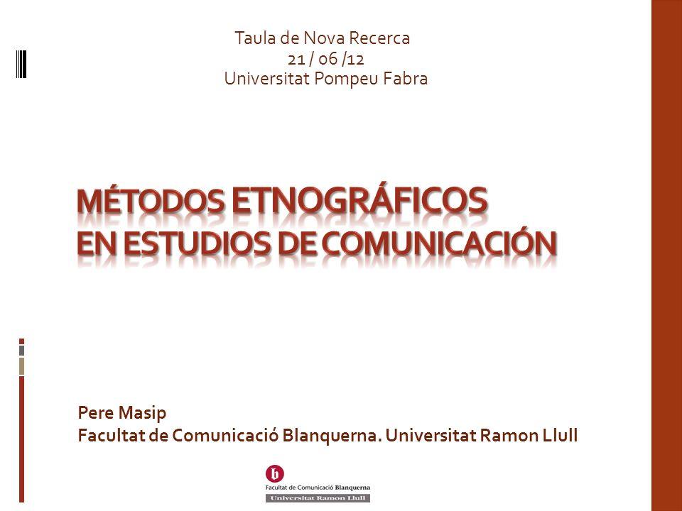 Métodos etnográficos en estudios de comunicación