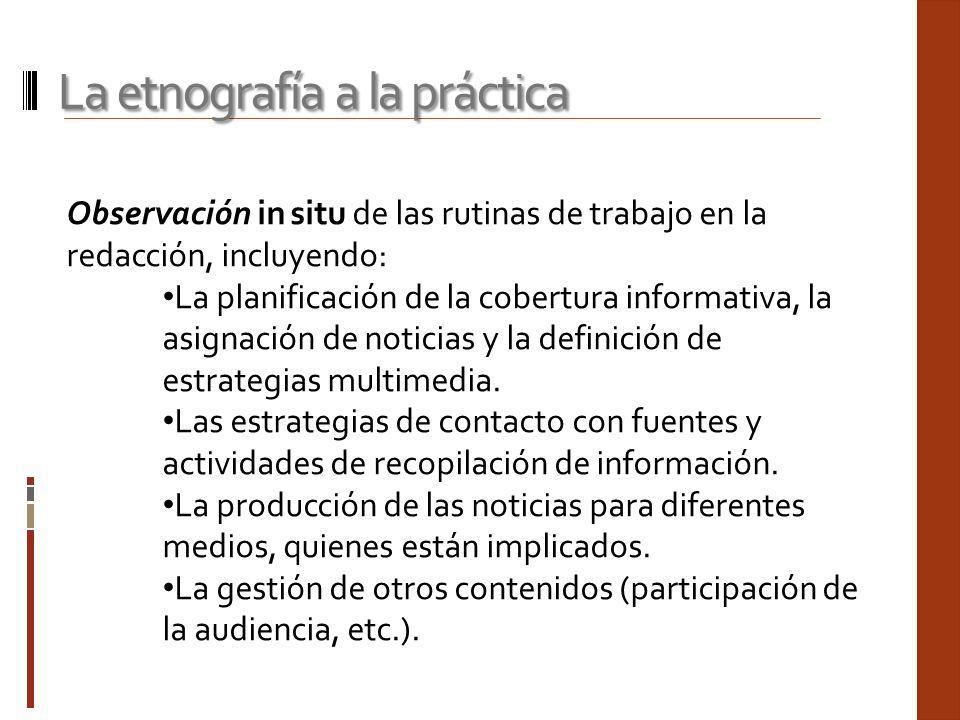 La etnografía a la práctica