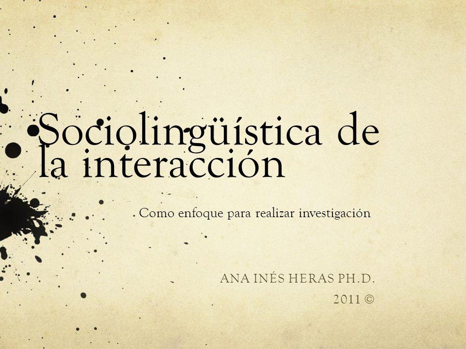 Sociolingüística de la interacción