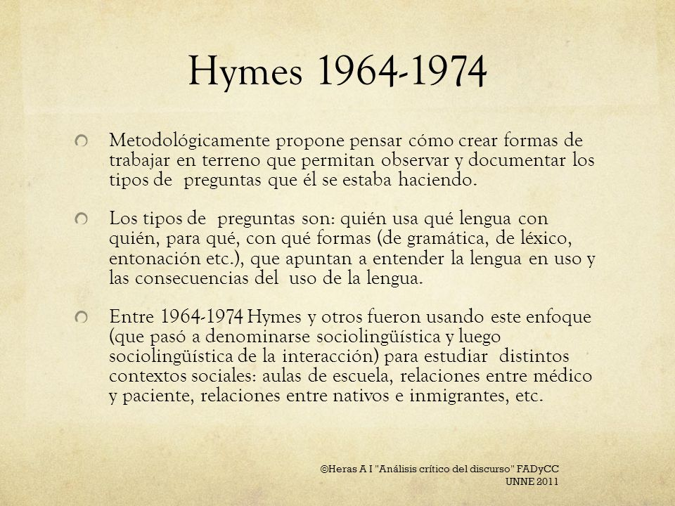Hymes 1964-1974