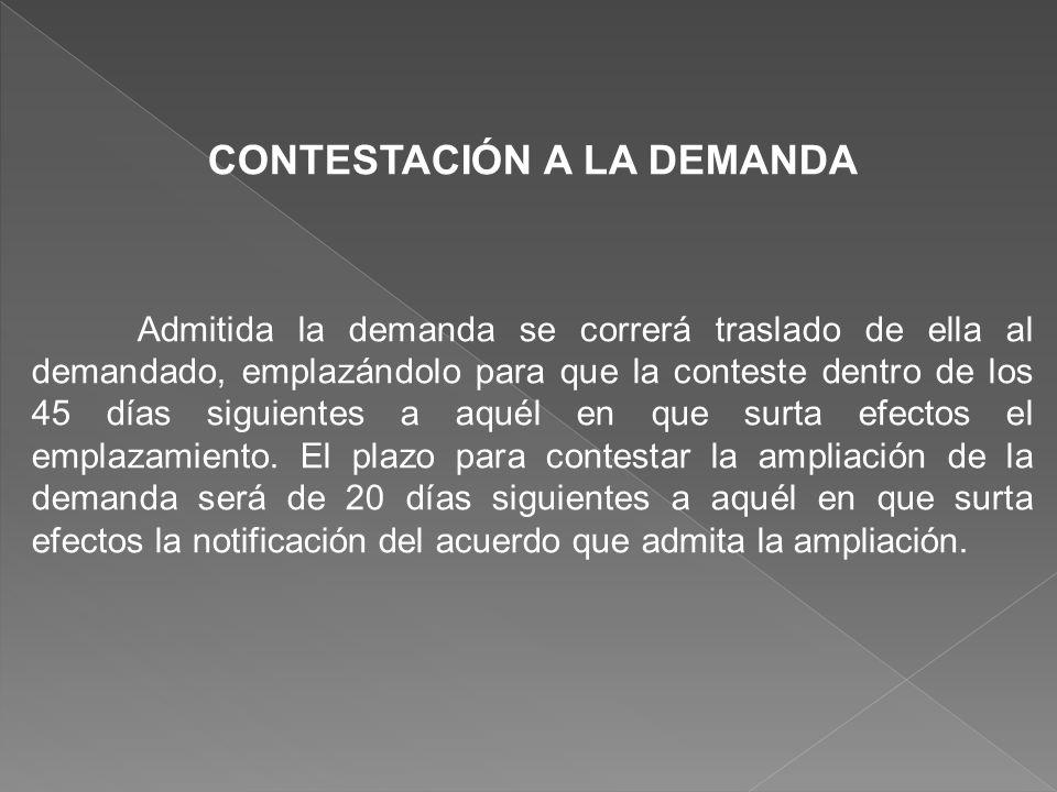 CONTESTACIÓN A LA DEMANDA