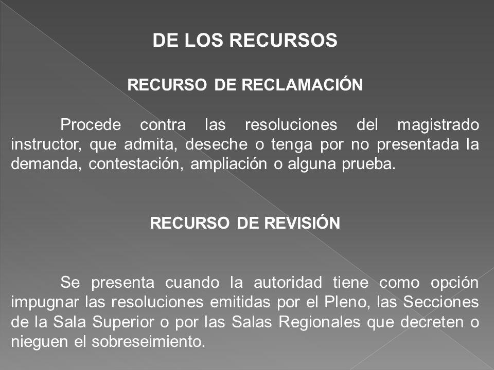 RECURSO DE RECLAMACIÓN