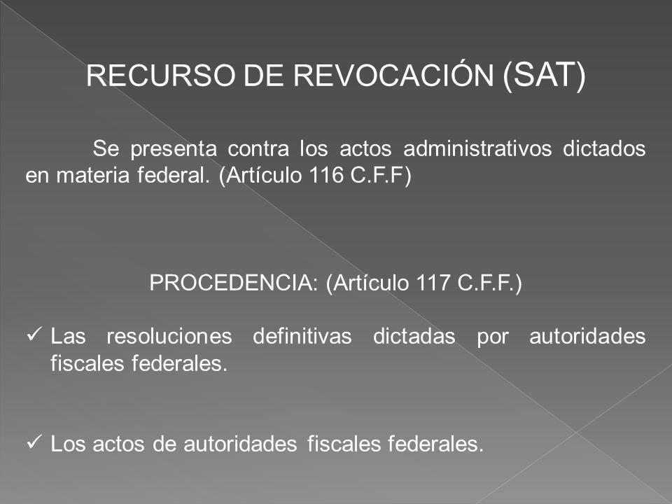 RECURSO DE REVOCACIÓN (SAT)