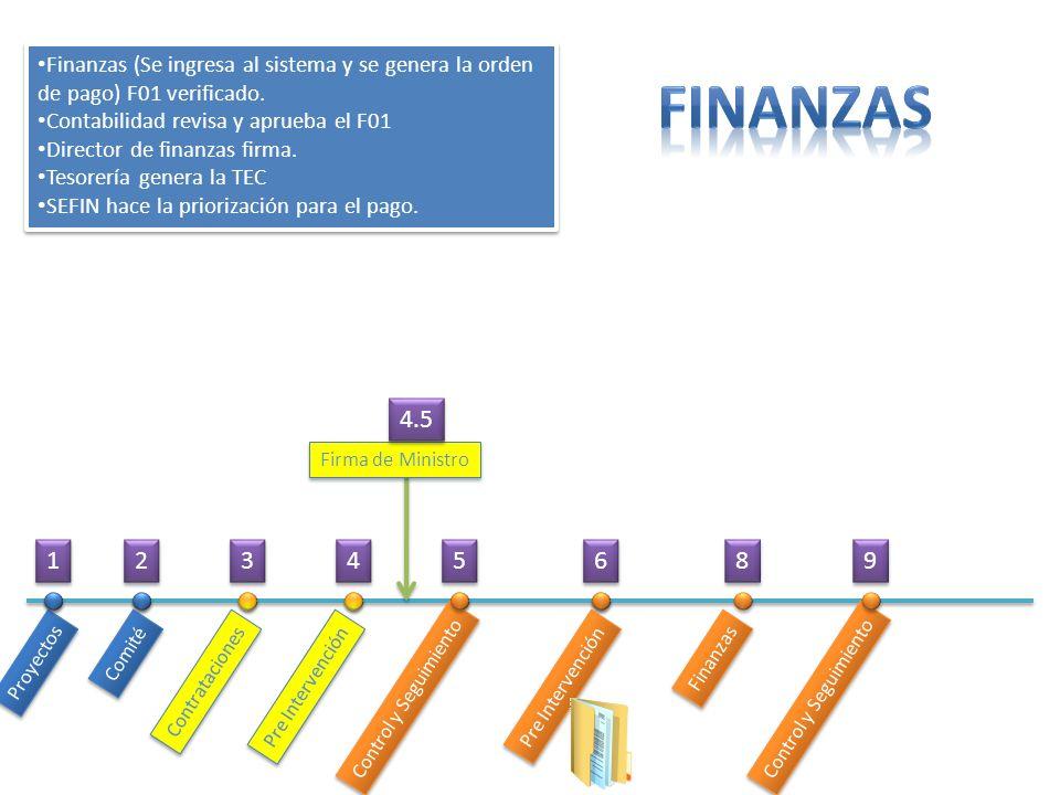 Finanzas (Se ingresa al sistema y se genera la orden de pago) F01 verificado.