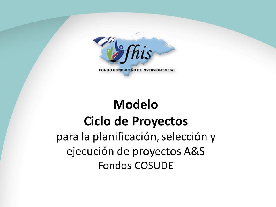 Modelo Ciclo de Proyectos para la planificación, selección y ejecución de proyectos A&S Fondos COSUDE