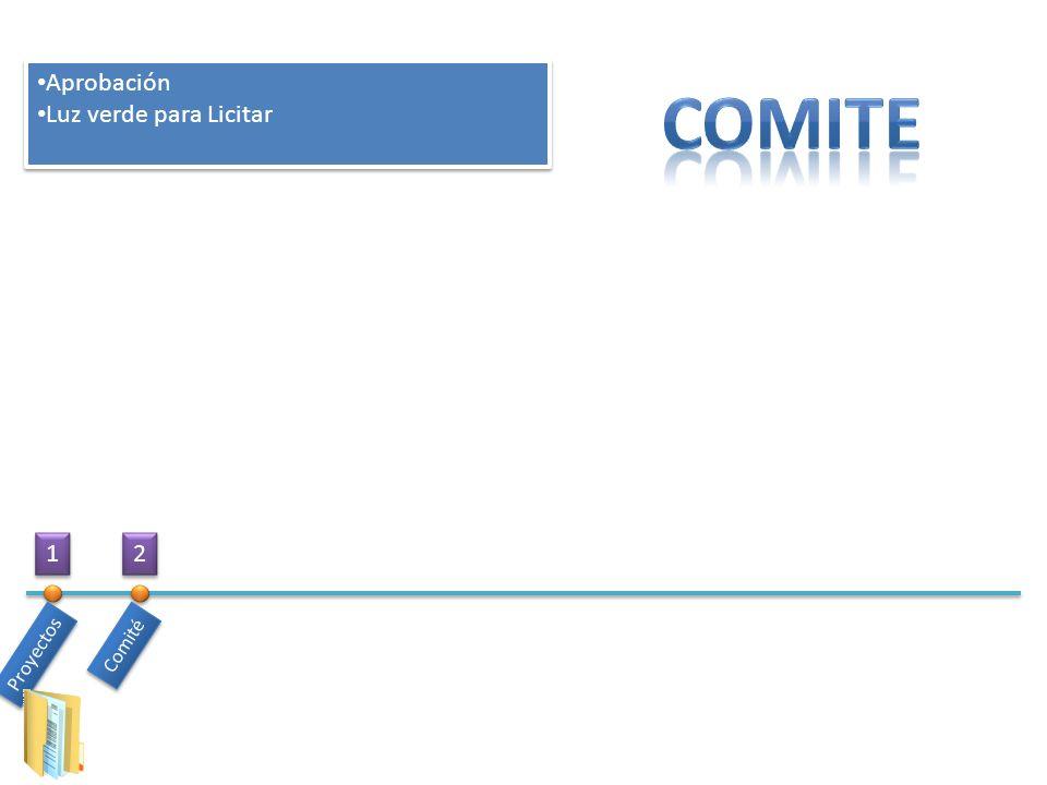 Aprobación Luz verde para Licitar COMITE 1 2 Comité Proyectos