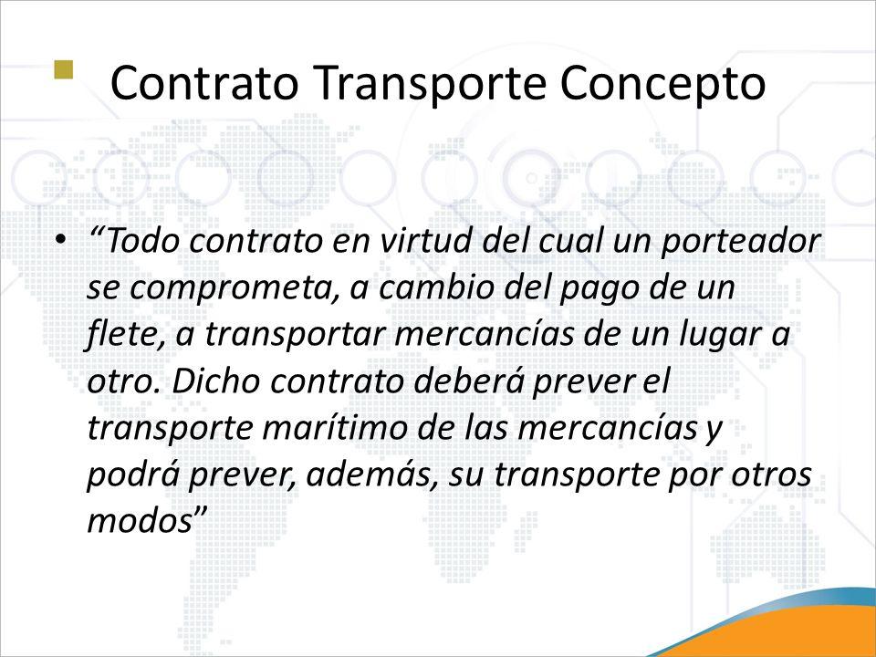 Contrato Transporte Concepto