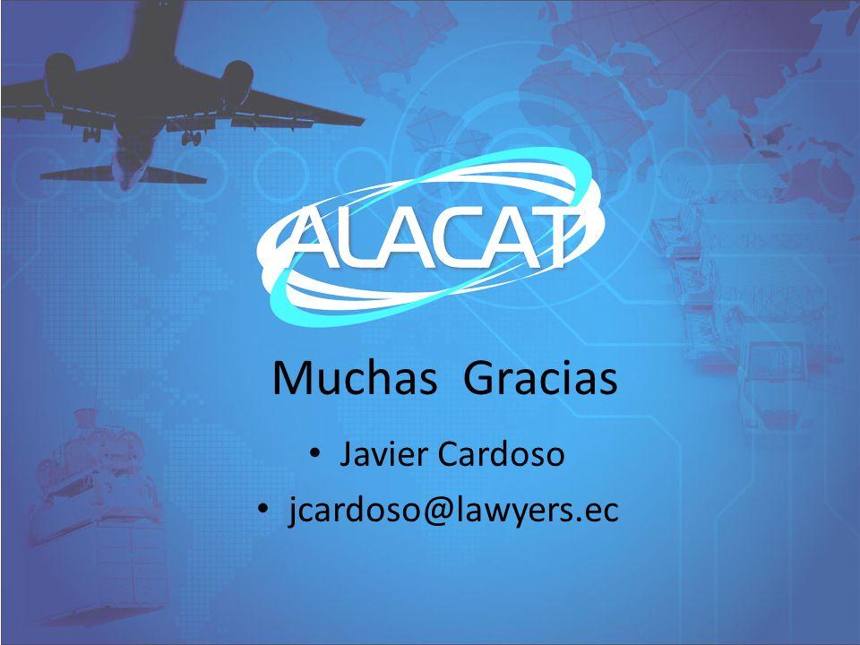 Javier Cardoso jcardoso@lawyers.ec Muchas Gracias