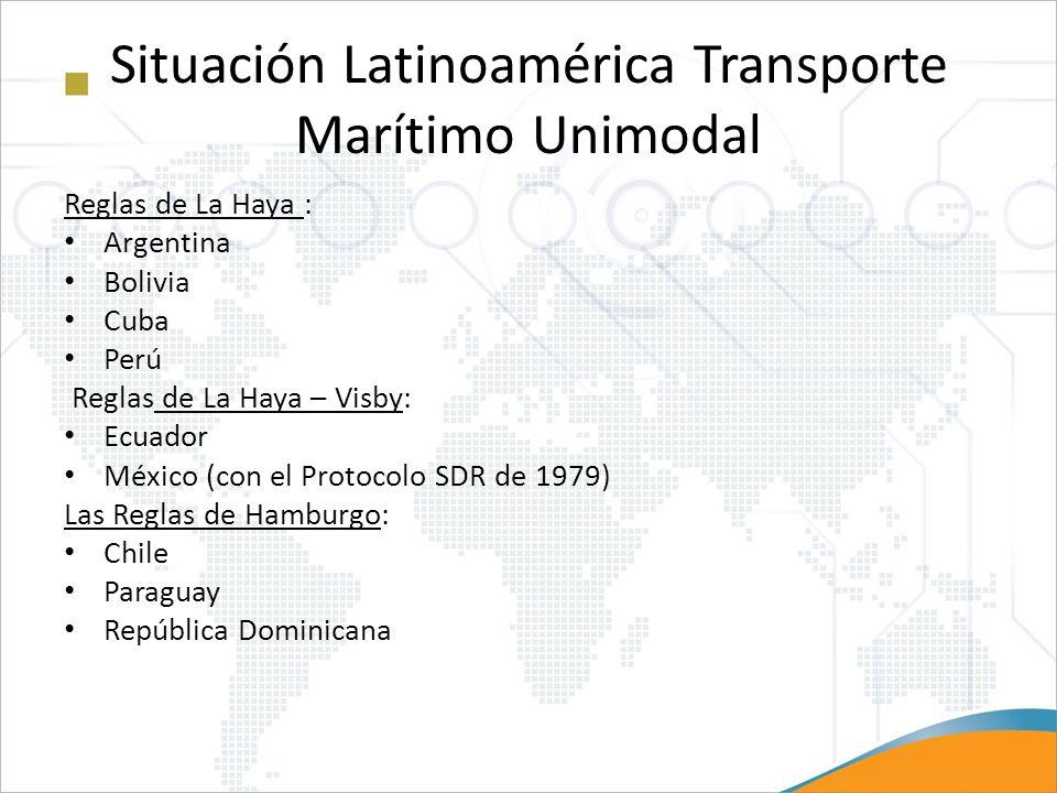 Situación Latinoamérica Transporte Marítimo Unimodal