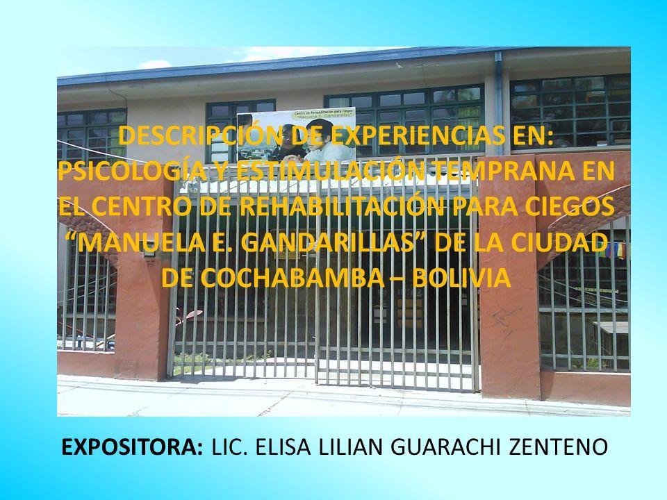 EXPOSITORA: LIC. ELISA LILIAN GUARACHI ZENTENO