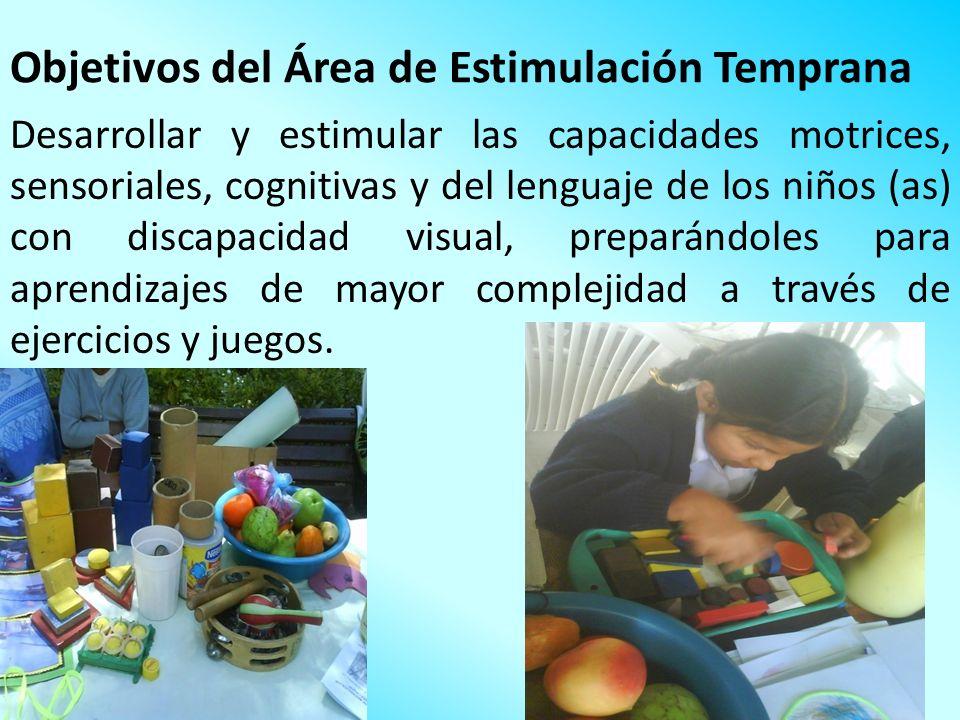 Objetivos del Área de Estimulación Temprana
