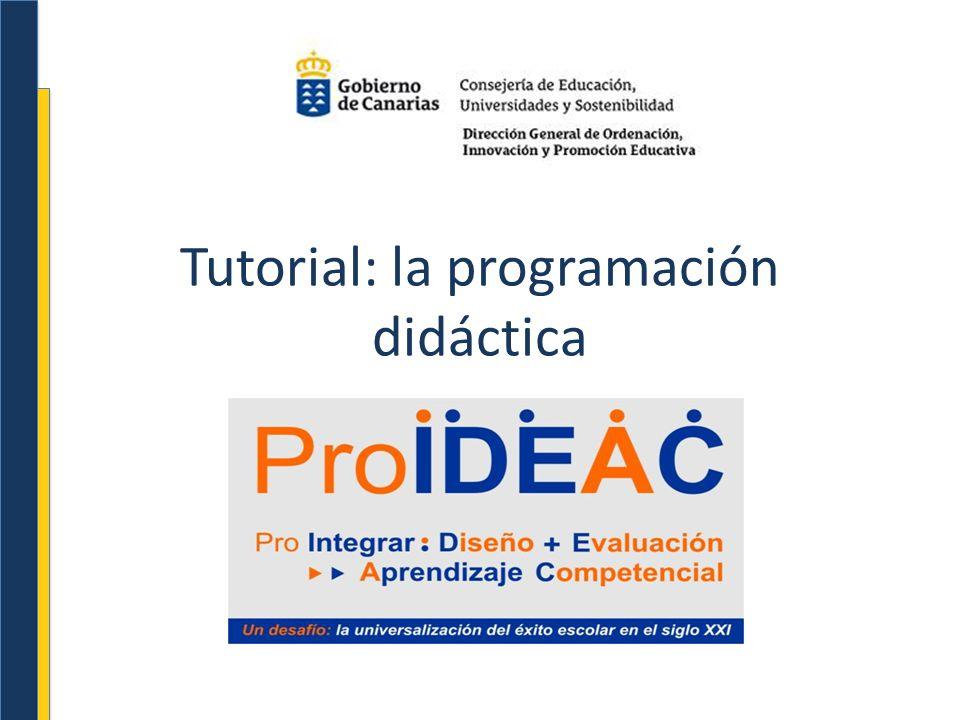 Tutorial: la programación didáctica