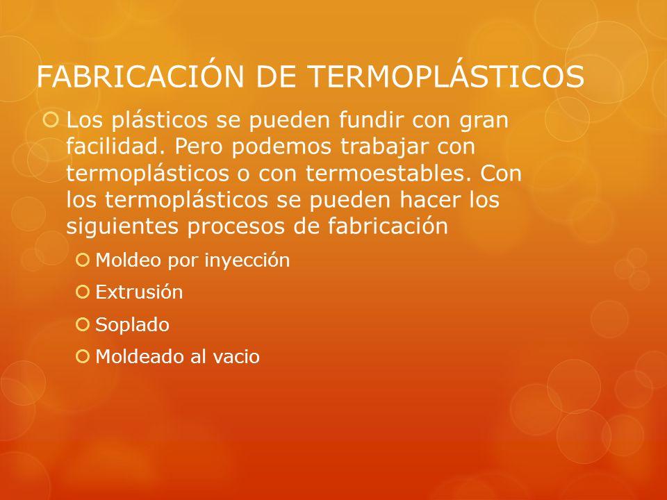 FABRICACIÓN DE TERMOPLÁSTICOS