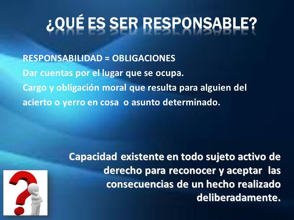 ¿Qué es Ser Responsable