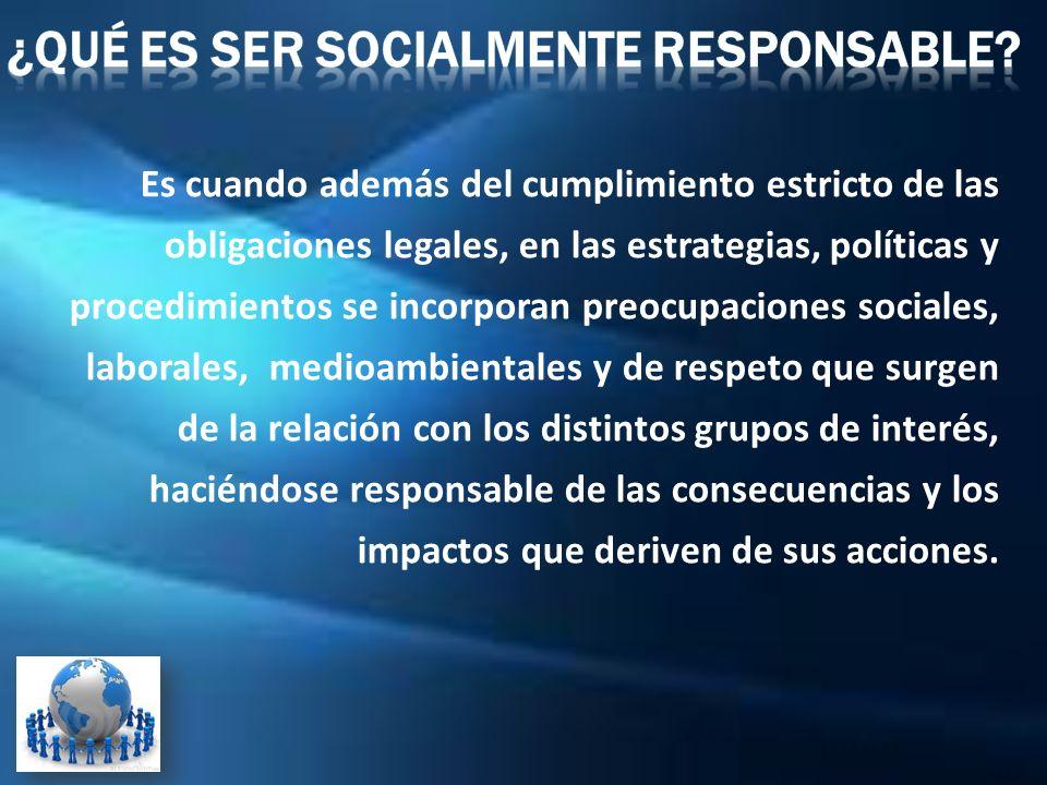 ¿Qué es ser Socialmente Responsable