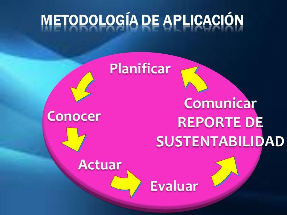 Metodología de Aplicación REPORTE DE SUSTENTABILIDAD