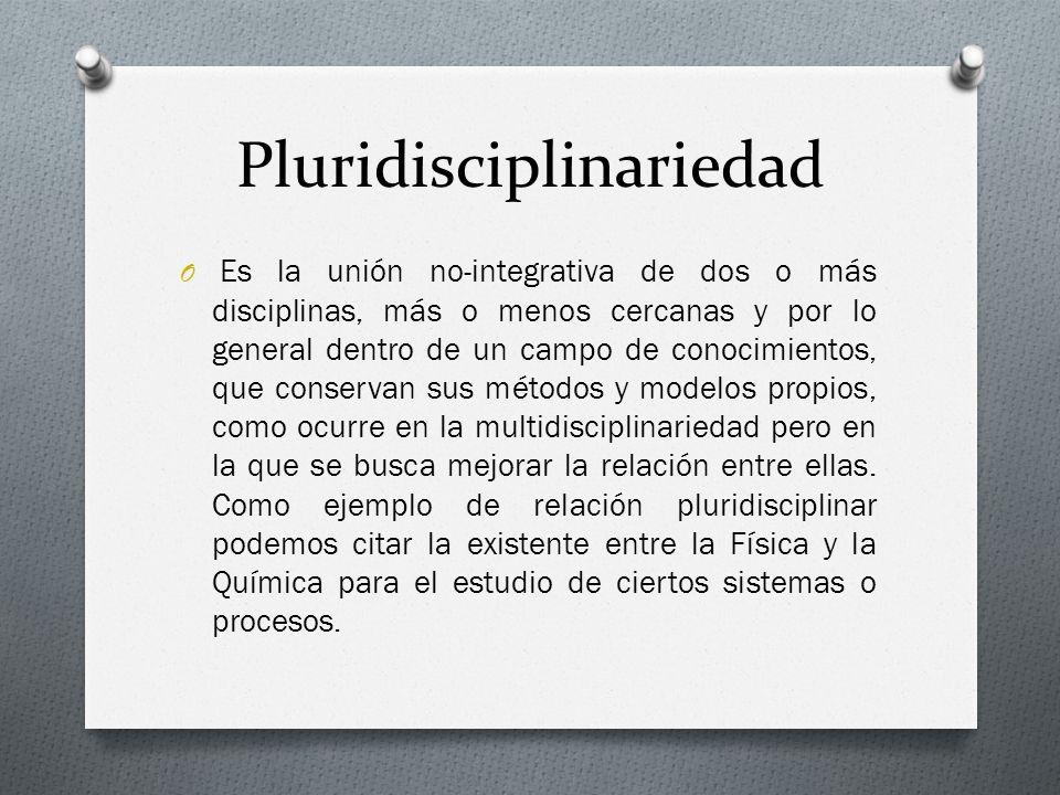 Pluridisciplinariedad