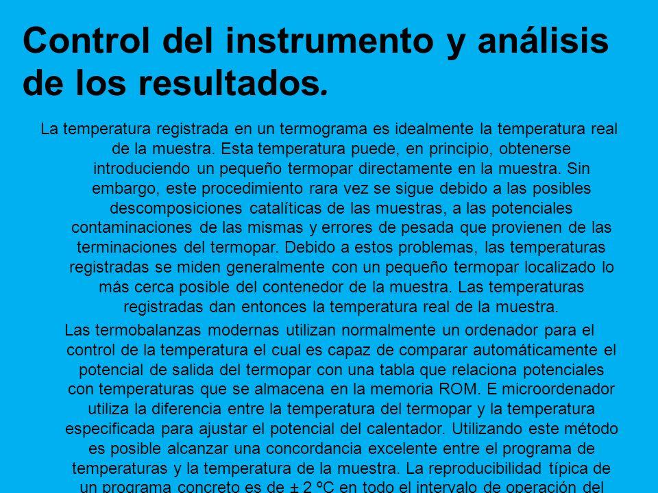 Control del instrumento y análisis de los resultados.