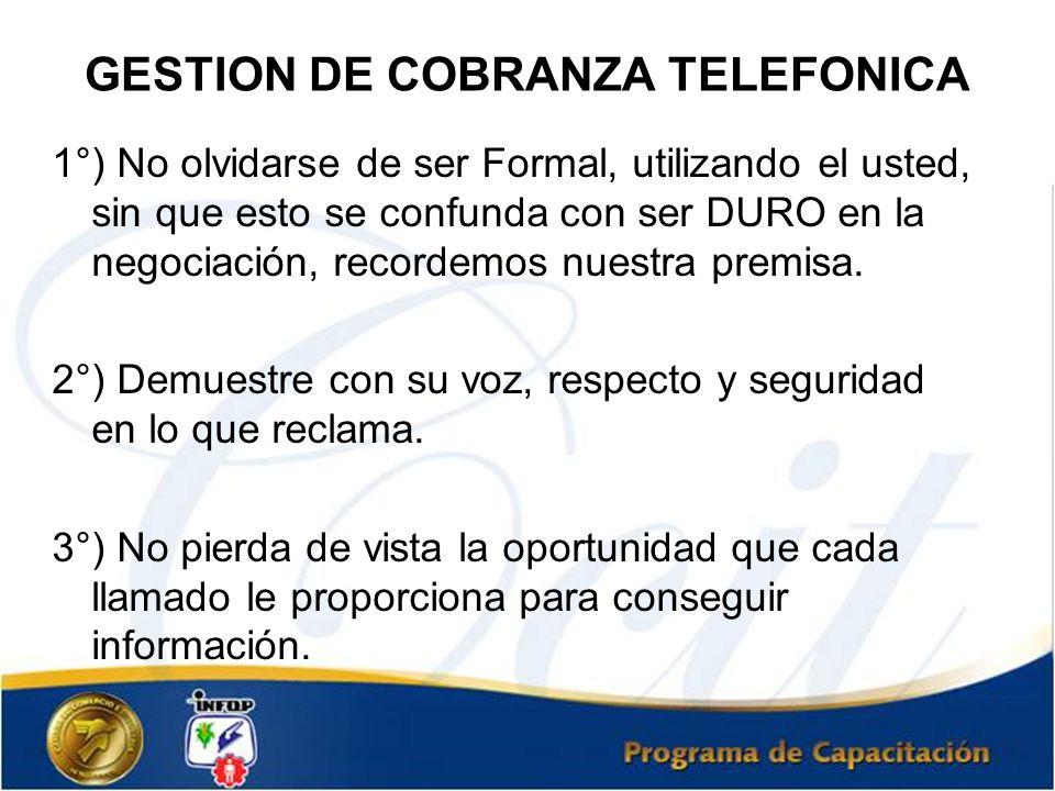 GESTION DE COBRANZA TELEFONICA