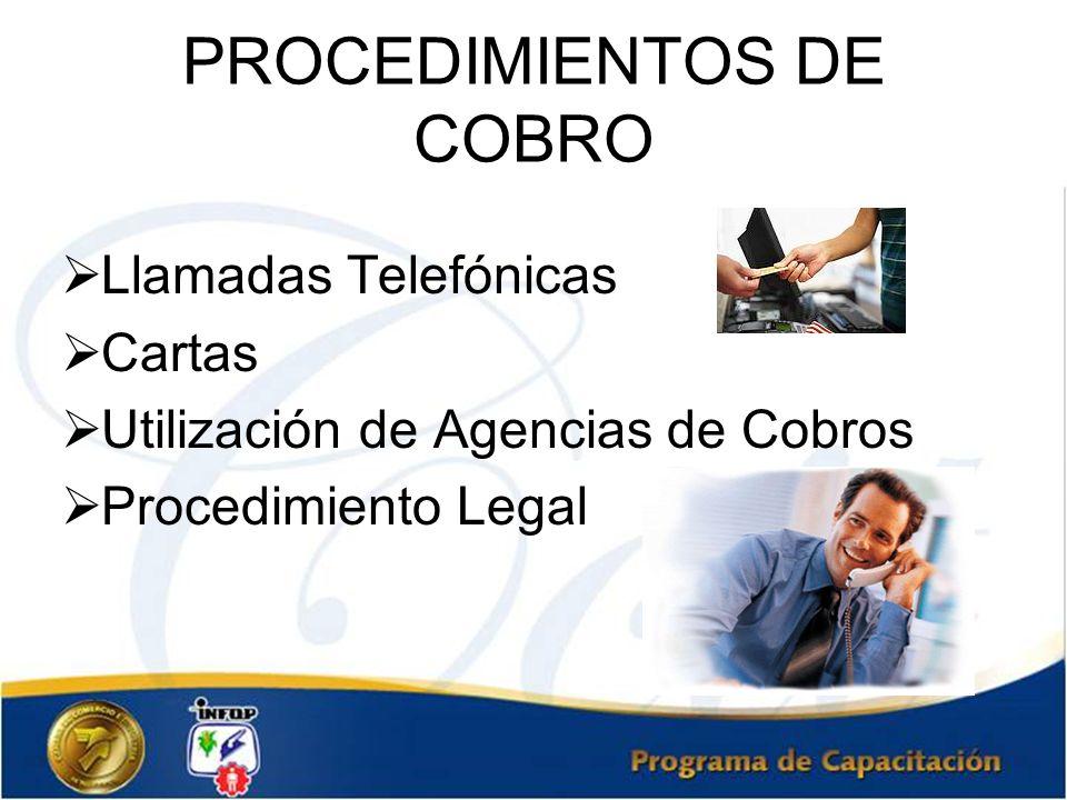 PROCEDIMIENTOS DE COBRO