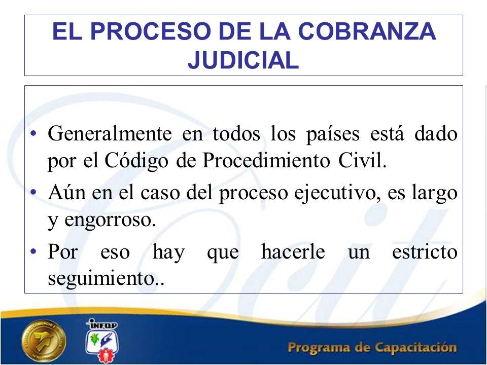 EL PROCESO DE LA COBRANZA JUDICIAL