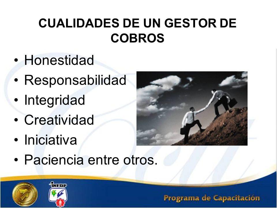 CUALIDADES DE UN GESTOR DE COBROS