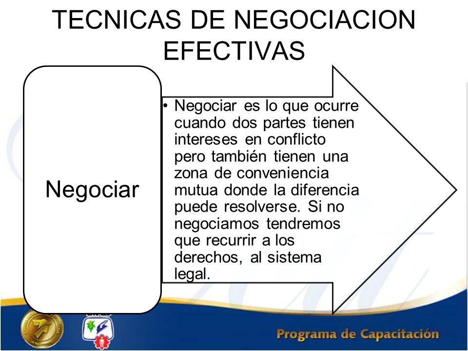 TECNICAS DE NEGOCIACION EFECTIVAS