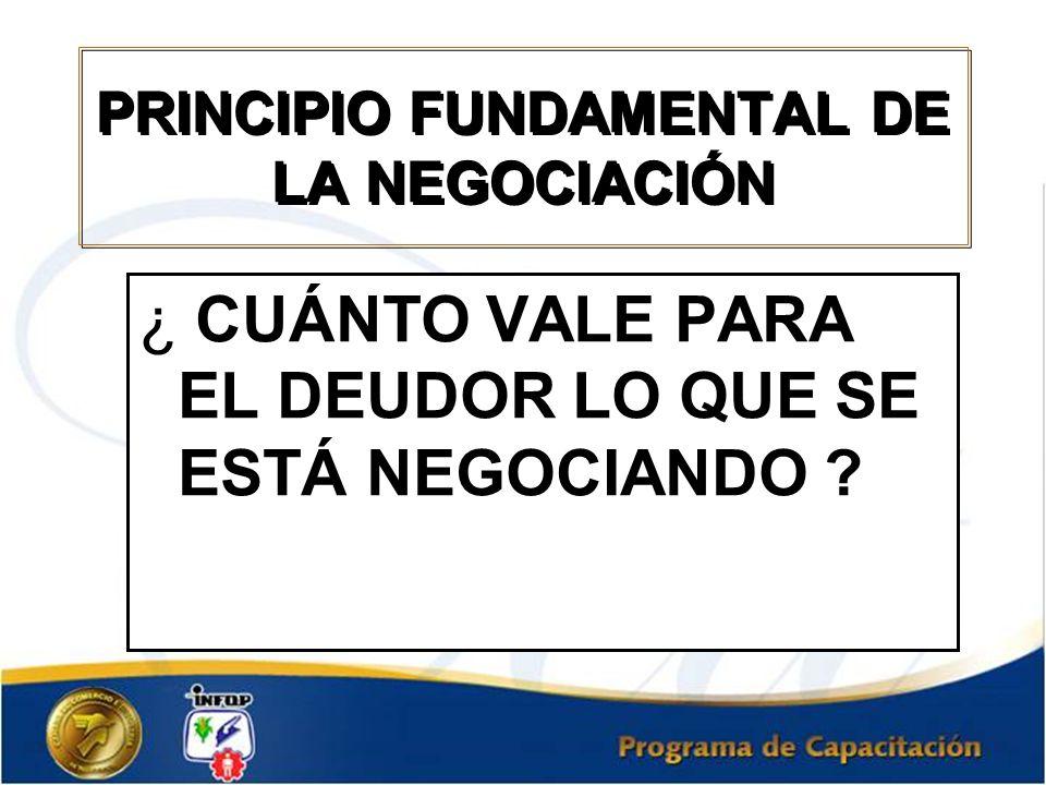 PRINCIPIO FUNDAMENTAL DE LA NEGOCIACIÓN