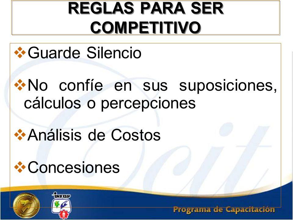 REGLAS PARA SER COMPETITIVO