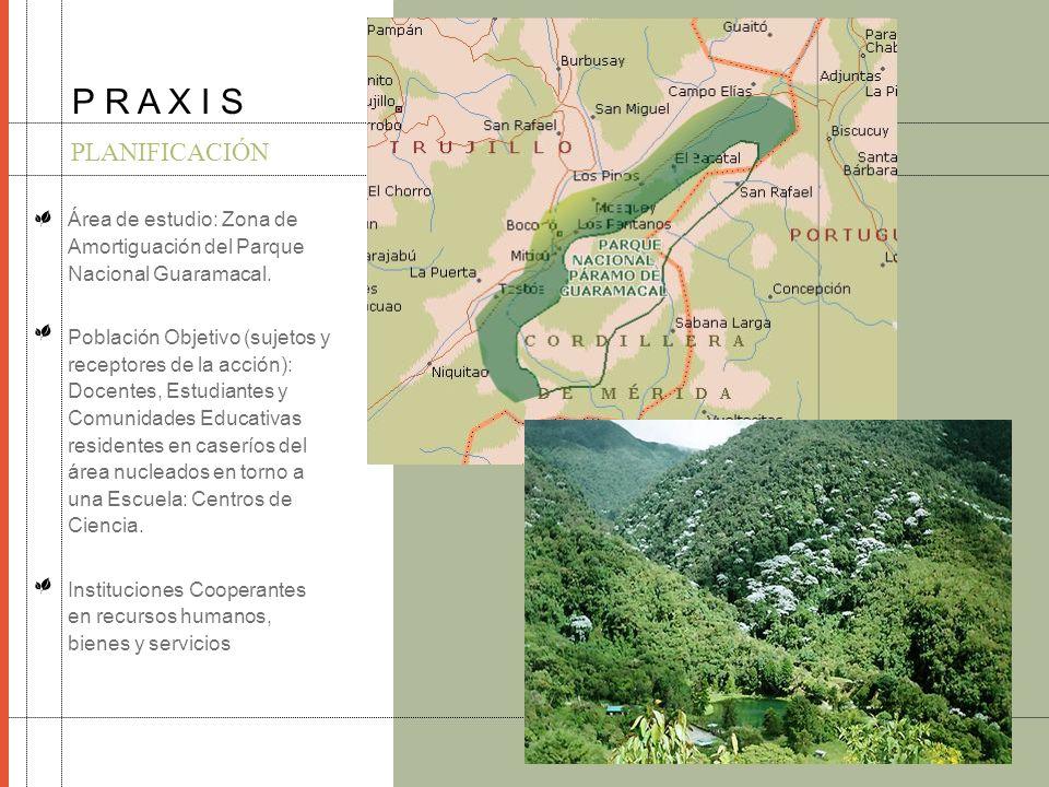 P R A X I S PLANIFICACIÓN. Área de estudio: Zona de Amortiguación del Parque Nacional Guaramacal.