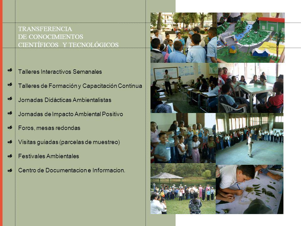 TRANSFERENCIA DE CONOCIMIENTOS CIENTÍFICOS Y TECNOLÓGICOS