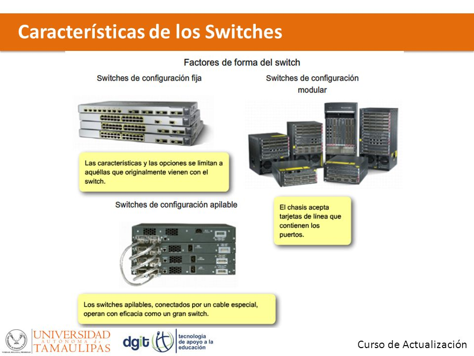 Características de los Switches