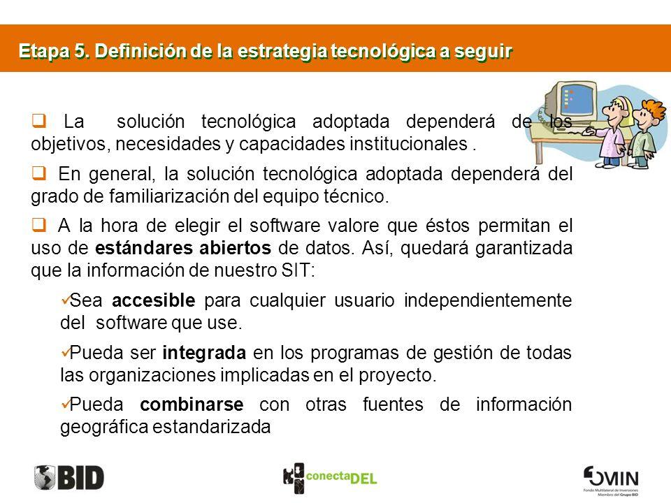 Etapa 5. Definición de la estrategia tecnológica a seguir