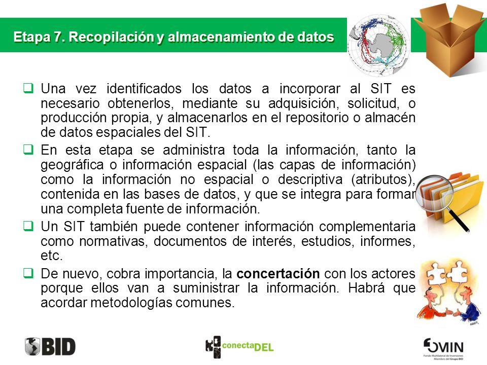 Etapa 7. Recopilación y almacenamiento de datos