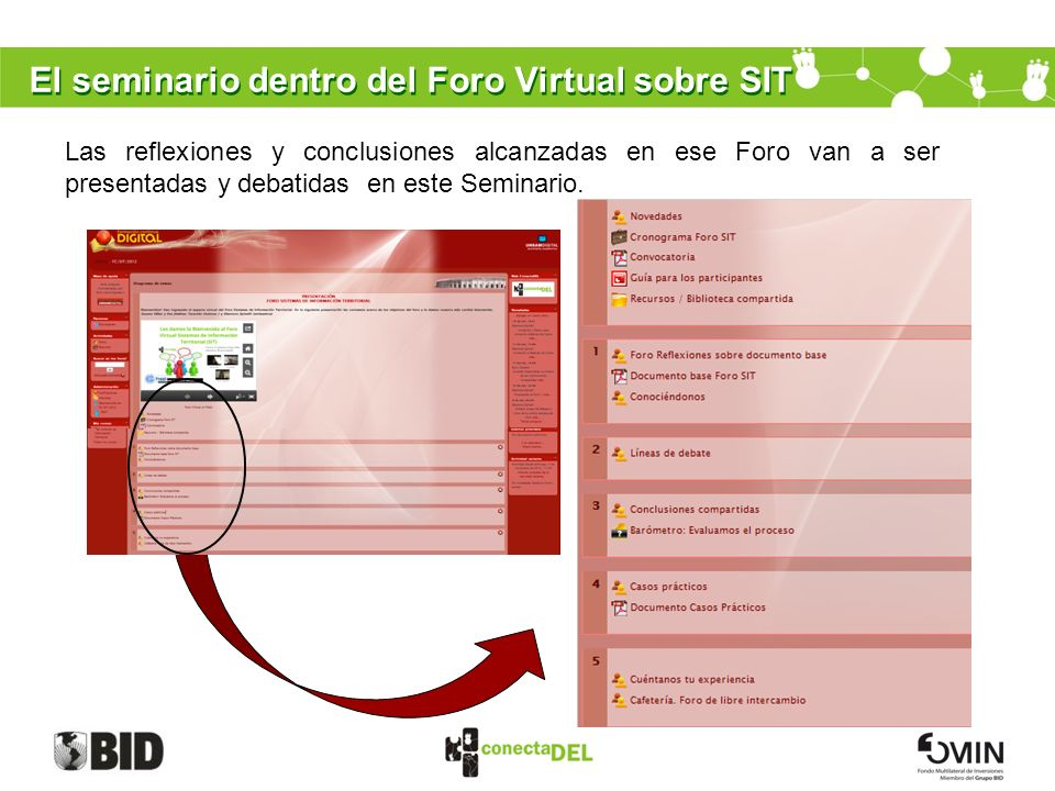 El seminario dentro del Foro Virtual sobre SIT