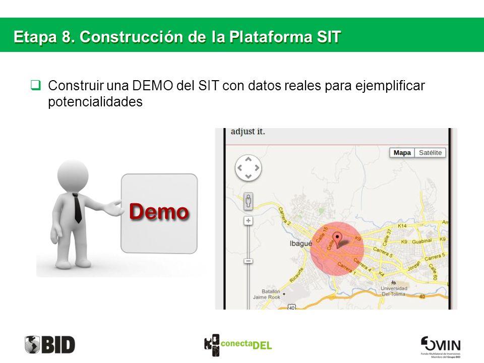 Etapa 8. Construcción de la Plataforma SIT
