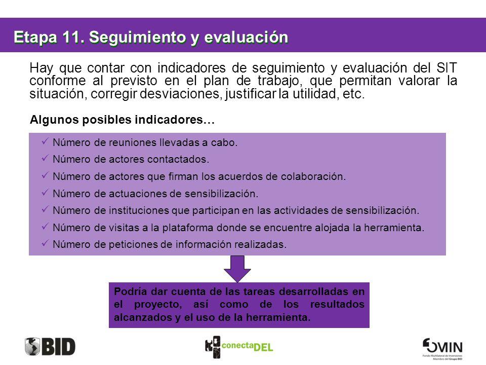 Etapa 11. Seguimiento y evaluación