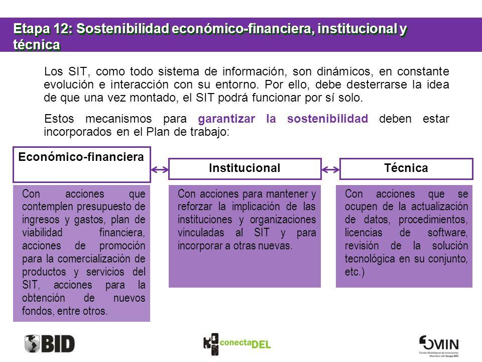 Etapa 12: Sostenibilidad económico-financiera, institucional y técnica
